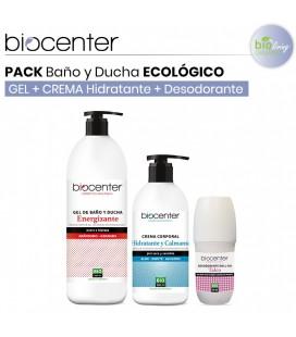 Pack Gel Baño y Ducha Energizante + Body Milk + Desodorante Talco