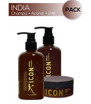 ICON India Trio 24K. Todos los cabellos. Antiencrespamiento