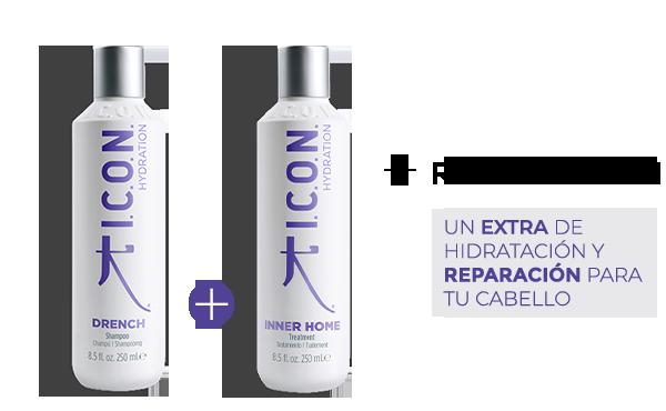 Drench Champú + Inner. La combinación perfecta para obtener mayor Reparación en el cabello