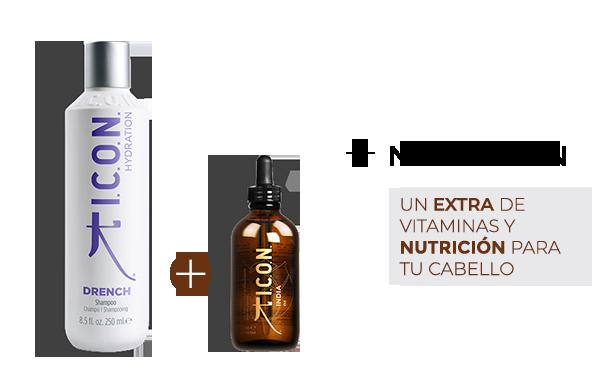 Drench Champú + India Oil. la combinación perfecta para obtener mayor Nutrición en el cabello
