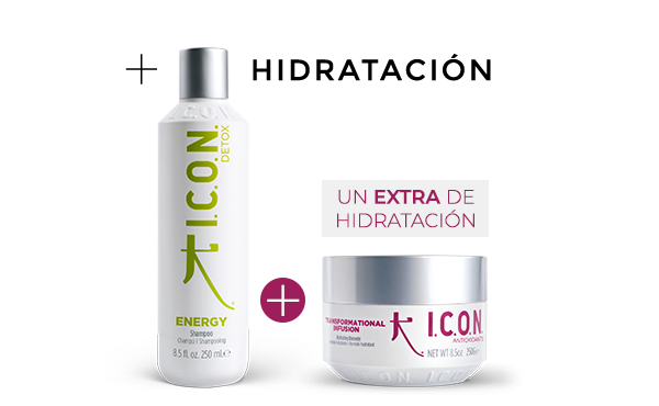 Energy + Infusión. la combinación perfecta de hidratación para cabellos grasos