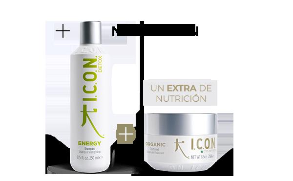 Energy + Organic Tratamiento. la combinación perfecta de nutrición para cabellos grasos