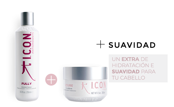 Fully Champú + Cure Acondicionador. la combinación perfecta para obtener un cabello mucho más suave