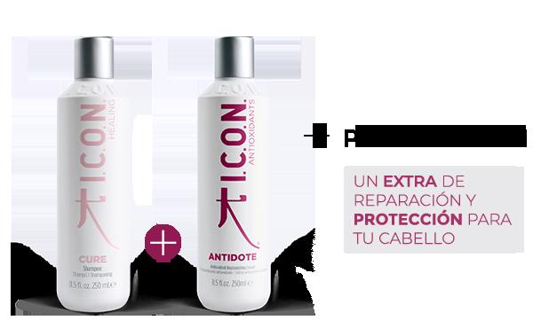 Cure Champú + Antidote. la combinación perfecta para obtener mayor protección en el cabello