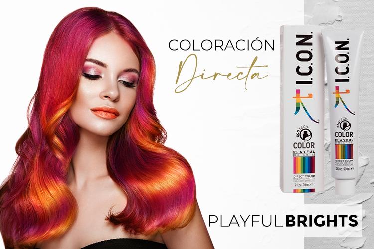 Tinte de coloración directa ICON. PlayFul Brights